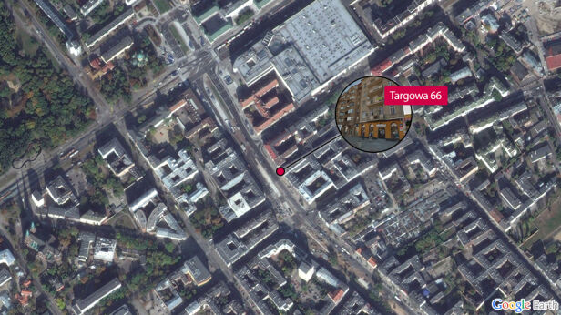 Sprawa budynku przy Targowej 66 Google Earth