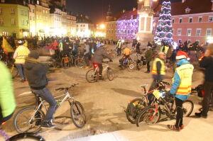 Zima nie wystraszyła rowerzystów