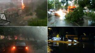 Kajakiem przez miasto. Ulewy i burze nękają Bułgarię