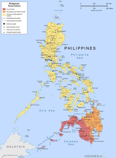 Mapa zagrożeń dla turystów