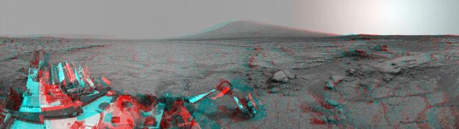 Poczuj się, jakbyś sam był na Marsie. Zdjęcie 3D od Curiosity