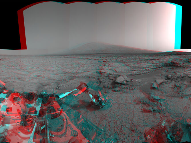 Panorama Marsa w trójwymiarze (NASA)