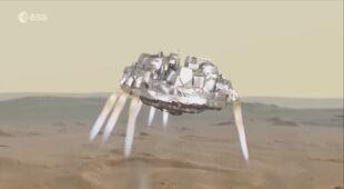 Tak mogłoby wyglądać lądowanie lądownika na Marsie